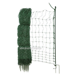 50m Hotline Poultry Net 1.1m High Quality Electric Netting - DOUBLE SPIKE Posts