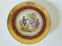 Limoges Porcelaine D'Art Hand Finished Plate, 1940s Vintage, 16.5 cm, Fragonard
