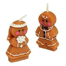 25 Gingerbread Bride and Groom Candle Wedding Bomboniere Favours