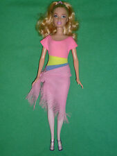 Barbie doll with Painted Pink Legs and Pretty Outfit