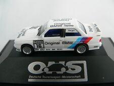 HERPA BMW M3 DTM 1991 #16 ALTFRIED HEGER TEAM LINDER ORIGINAL BMW TEILE, NEU+OVP