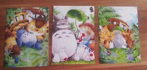 TOTORO - 3 Postkarten - NEU! *@*