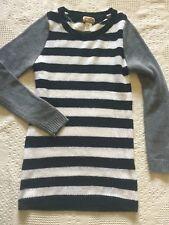 Mudd  size Large juniors sweater tunic black white and gray