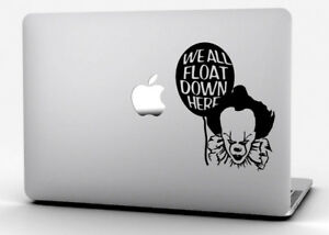 Pennywise We all Float Down Here Car Laptop Sticker Decal IT Clown Stephen king