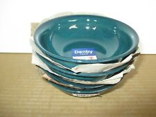 Denby Greenwich 4 x Medium Side Bowls New 1st Quality Excellent Condition