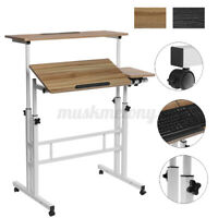 Home Office Laptop Computer Desk Mobile Sit and Stand Multipurpose Workstation