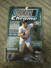 FACTORY SEALED 2000 Topps Chrome Stadium Club Baseball Card Box (24 Packs)