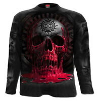 Spiral Direct LACE SKULL Womens Lace Layered Cap Sleeve Top Clothing Rose//Goth