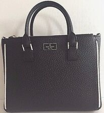 NWT Kate Spade Marga Prospect Place Satchel handbag Black Leather with dust bag