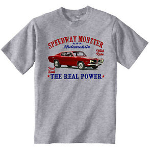 VINTAGE AMERICAN INSPIRED PLYMOUTH BARRACUDA 1 - NEW COTTON T-SHIRT