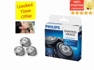 Philips Norelco Shaving Heads Replacement Shaver Series 5000 SH50 3 Heads New