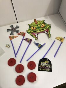 Knex Screaming Serpent Coaster Replacement Parts Cardboard head Gears flags lot