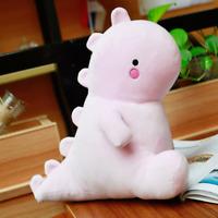 "Dinosaur Plushie Cute Stuffed Animal Cartoon Plush Toy 11"" Plushy Pink Gift"