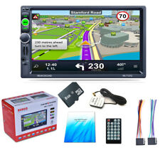 "New 7"" 2DIN Car In-dash Player Kit Bluetooth FM Stereo MP5 GPS Navigation NA Map"