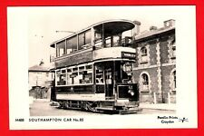 Tram Postcard ~ Southampton Car No 85 - on Service 7 to Shirley - Pamlin M488