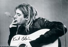 Kurt Cobain - Smoking - Fabric Poster - 30x40 Wall Hanging Nirvana 51891