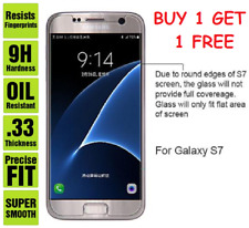0.33MM  HD 9h Hard temper Glass Screen Protector for Samsung S7, Buy 1 Get1 Free