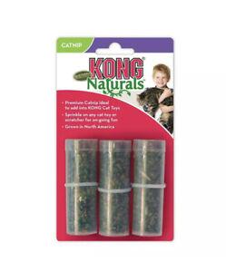 KONG NATURALS CATNIP Tubes 3 Pack