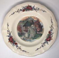 N20 Assiette Creuse En Porcelaine Obernai Sarreguemines France H. Loux D 23 Cm