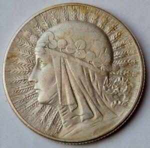 Poland 5 Zlotych 1934, Queen Jadwiga, silver