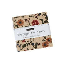 "Moda, Through the Years, 5"" Charm Pack, Fabric Quilt Squares, 9620PP, SQ60, SQ38"