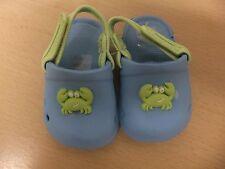 Blue EVA crab mules with velcro strap.age 3-6 months.Debenhams.new.