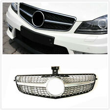 Grille Grill For Mercedes Benz C Class W204 2007-2014 Diamond Style C180 C200