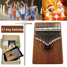 17Keys Kalimba Thumb Piano Wooden Finger Musical Instrument Party Gift DD UK