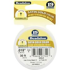 Satin Gold Bead Stringing Wire - 19strand 015x30