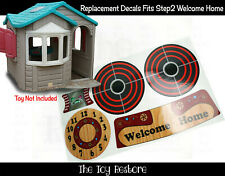 Toy Restore Replacement Stickers fits Step2 Welcome Home Playhouse Cubby House