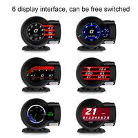 OBD2 Car Gauge HD LCD Screen HUD Head-Up Digital Diagnostic Tool Speedometer