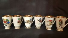 Rare Porcelain Cups Walt Disney motive Snow White and the Seven Dwarfs Erotic