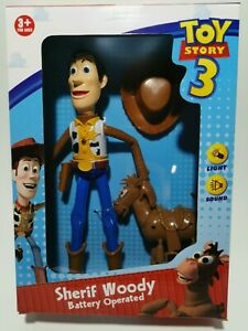 Toy story woody and bullseye action figurine