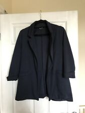 Womens New Look Size 12 Navy Soft Blazer Excellent Condition