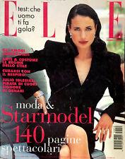 ELLE Italia Magazine October 1995 ANDIE MACDOWELL Bellucci PORIZKOVA Patitz