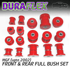 MGF (upto 2002) FRONT & REAR BUSH SET Red Duraflex Polyurethane