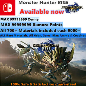 Monster Hunter Rise (Switch Save Edit) Mod Service, 3.1 New update Available Now