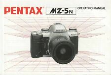 Pentax MZ-5n Genuine Instruction Book, Guide, User Manual, Instructions