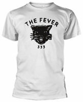 Official Fever 333 T Shirt Cat White Mens Unisex Classic Punk Rock Metal Tee NEW