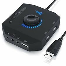 CSL - Scheda audio USB esterna e HUB e Amplificatore Cuffie 3 in 1 -...