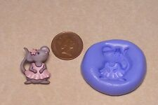 Reusable Mouse-3 Silicone Mould Sugarcraft Jewellery Card Topper Food Safe N