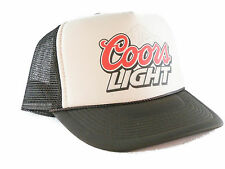 Coors Light beer hat Trucker Hat mesh hat snapback hat tan/brown new adjustable