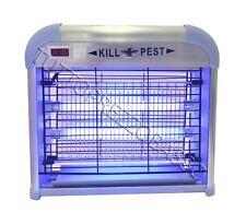 Zanzariera elettrica 10w lanterna fulmina zanzare insetti mosche neon uv 10 watt