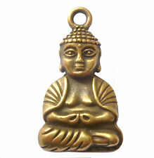 1 x LARGE DOULBLE SIDED BUDDHA ANTIUE GOLD BRONZE COLOUR 39mm x 24mm APPROX