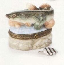 Northern Pike Phb Porcelain Hinged Box by Midwest of Cannon Falls