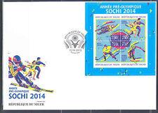 NIGER 2013 SOCHI 2014 WINTER OLYMPIC GAMES FIGURE SKATING HOCKEY BOBSLED SHT FDC