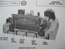 MEISSNER 9-1091C TUNER RECEIVER PHOTOFACTS PHOTOFACT