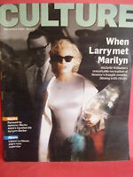 SUNDAY TIMES CULTURE MAG NOVEMBER 2011 LARRY WEST MARILYN MONROE BILLY PIPER INT