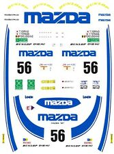 #56 mazda 787 Le Mans 1991 1/64th Ho Scale Slot Car Waterslide Decals