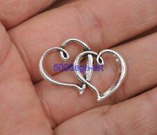 10pcs Tibetan Silver Charm heart Connectors pendant Jewelry Finding 31mm A3397